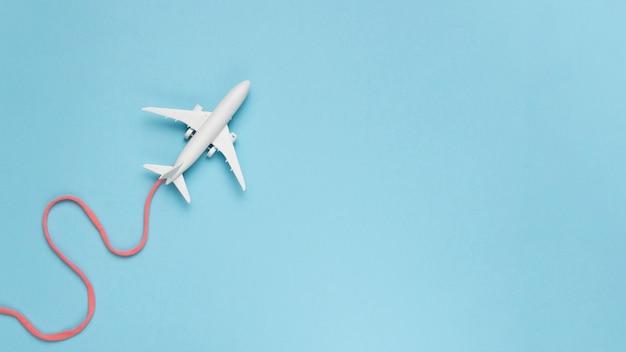 Vliegtuig route concept
