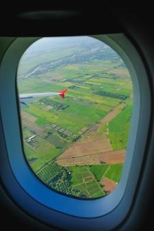 Vliegtuig vensterweergave