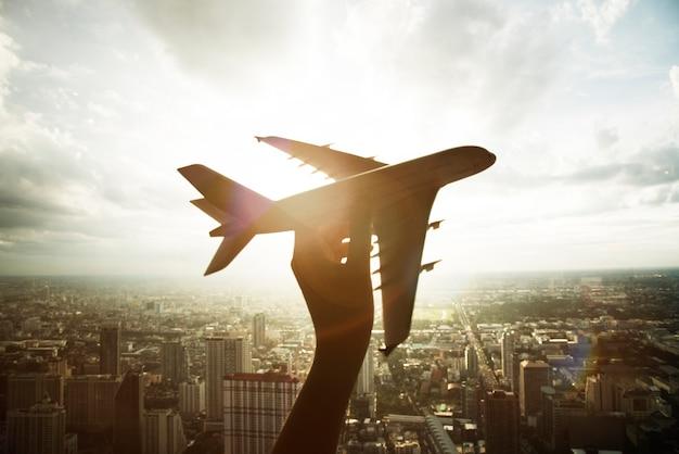Vliegtuig vliegtuigen reistrip