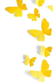Vlinders vliegen - geïsoleerde afbeelding