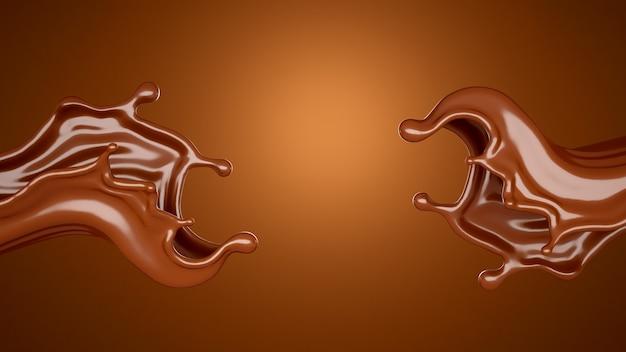 Vloeibare chocoladeplons