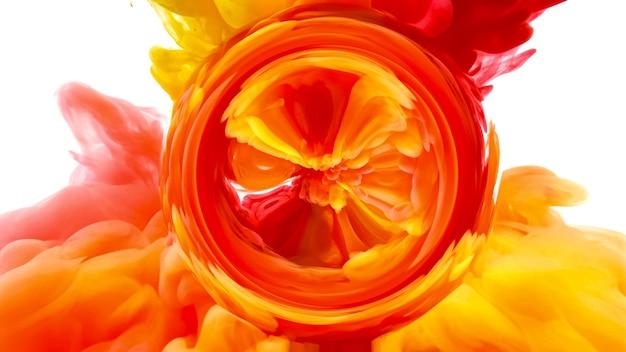 Vloeibare kunst abstracte achtergrond kleur inkt in water mix