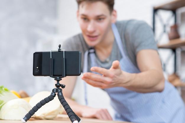 Vlogger koken