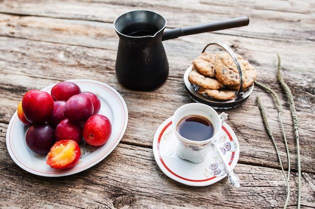 Voedsel ontbijt herfst land gezelligheid zorg kalme keuken concept