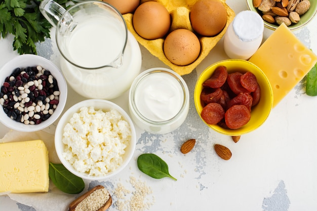 Voedsel rijk aan calcium