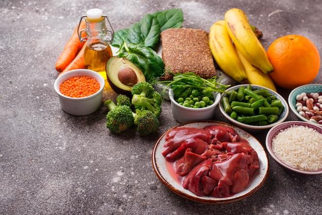 Voedsel rijk aan foliumzuur