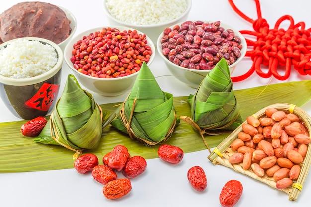 Voedsel traditie blad gestoomde rijst keuken
