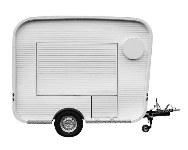 Voedsel vrachtwagen geïsoleerd op wit