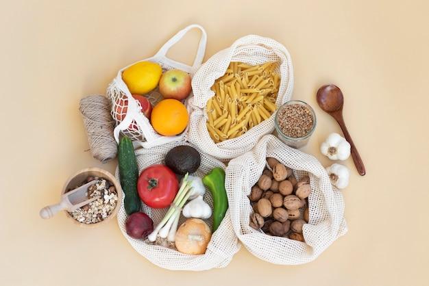 Voedselarrangement in herbruikbare zak