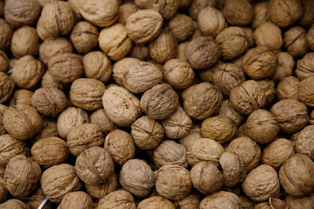 Voedselfoto van noten, speciaal walnoten