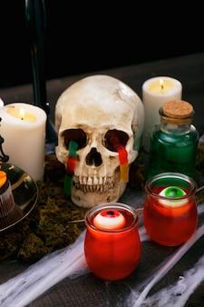 Voedselsamenstelling voor halloween-feest