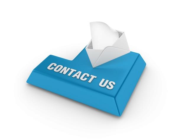 Voer de sleutel in met envelop en neem contact met ons op