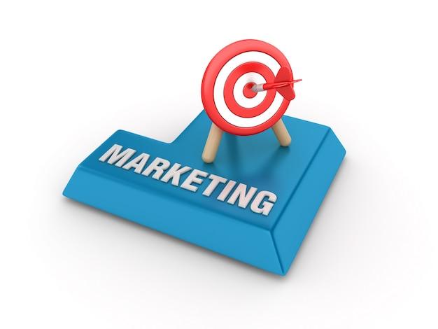Voer sleutel in met doel- en marketingwoord