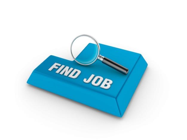 Voer sleutel in met loep en zoek taakwoord