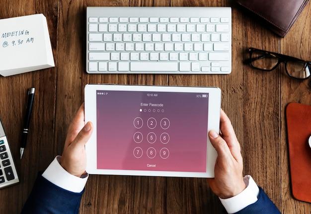 Voer wachtwoordbeveiligingssysteemconcept in