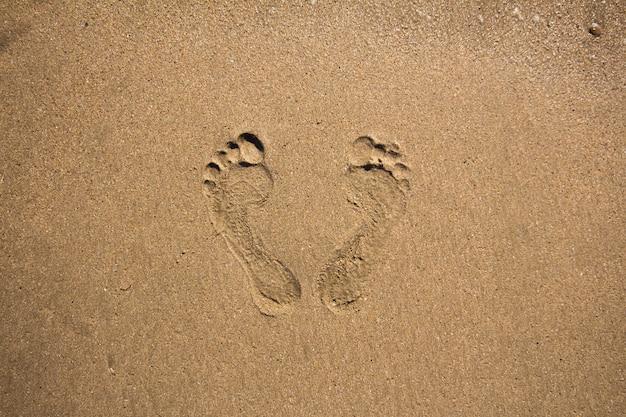 Voetafdrukken in het zand