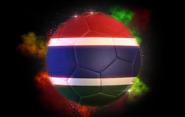 Voetbal bal getextureerd met vlag van gambia