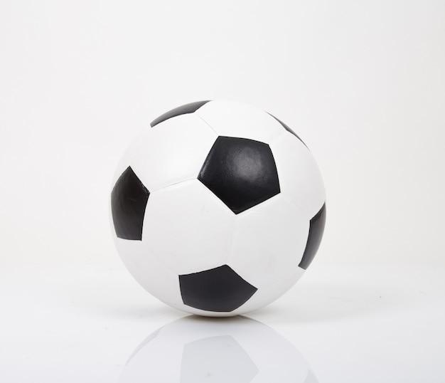 Voetbal of voetbal. geïsoleerd op een witte achtergrond.