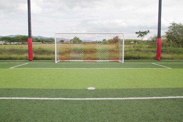 Voetbal poort kunstgras