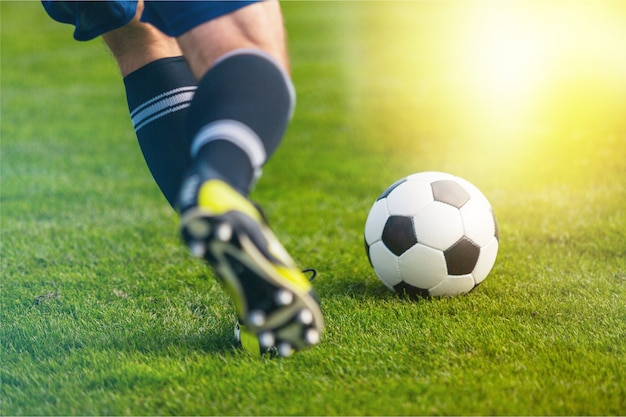 Voetbal voetbal bal voetbalveld bal sport actieveld