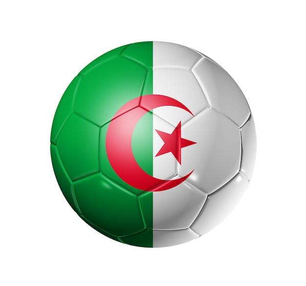 Voetbal voetbal met algerije vlag