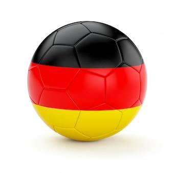 Voetbal voetbal met de vlag van duitsland