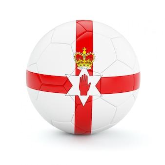 Voetbal voetbal met de vlag van noord-ierland