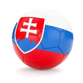 Voetbal voetbal met de vlag van slowakije