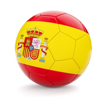 Voetbal voetbal met de vlag van spanje