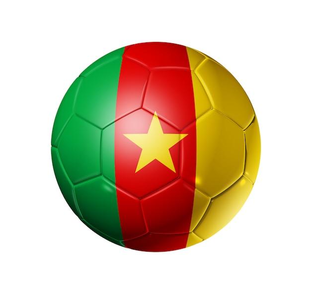 Voetbal voetbal met kameroen vlag