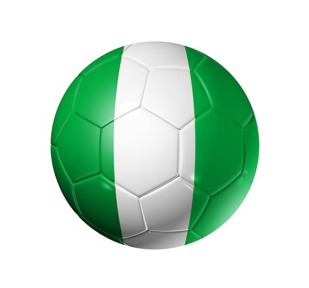 Voetbal voetbal met nigeria vlag
