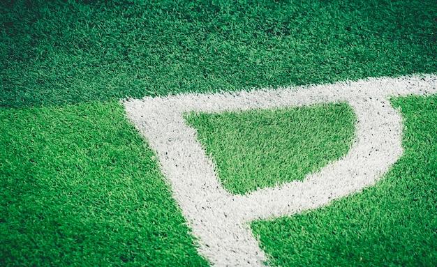 Voetbal voetbal veld witte hoeklijn voor achtergrond