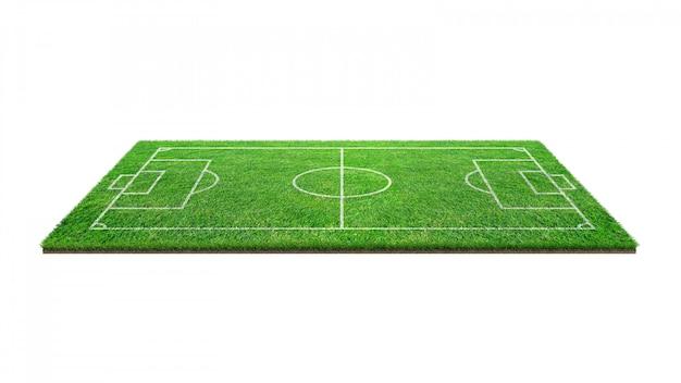 Voetbal voetbalveld geïsoleerd op witte achtergrond.