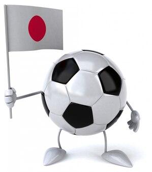 Voetbalbal - 3d karakter