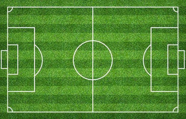 Voetbalgebied of voetbalgebied voor achtergrond. groen gazon voor het maken van een spel.