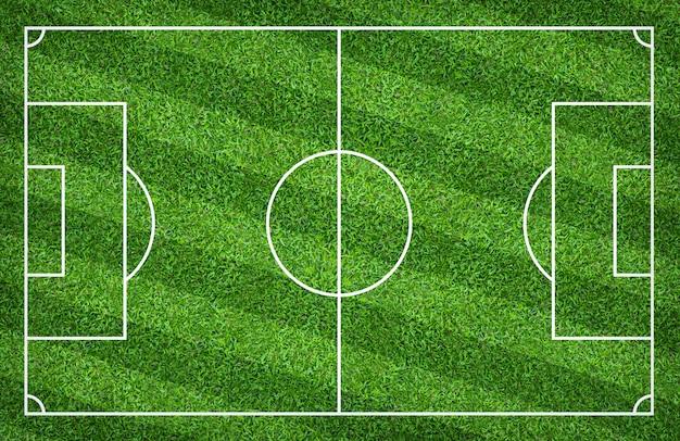 Voetbalgebied of voetbalgebied voor achtergrond. met groen gazonpatroon.