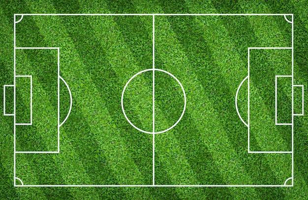 Voetbalgebied of voetbalgebied voor achtergrond. met groen rechterpatroon.