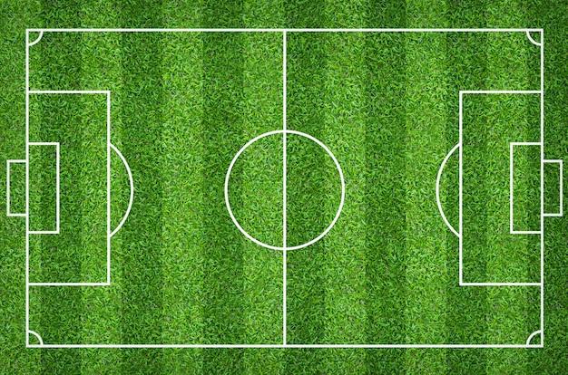 Voetbalgebied of voetbalgebied voor achtergrond met het groene patroon van het gazongerecht.