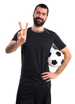 Voetballer tellen twee