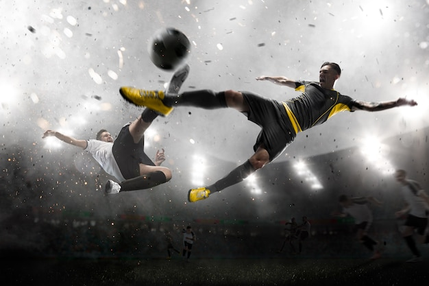 Voetballers in aanval