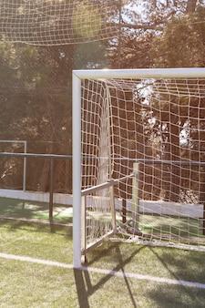 Voetbalpoort op veld