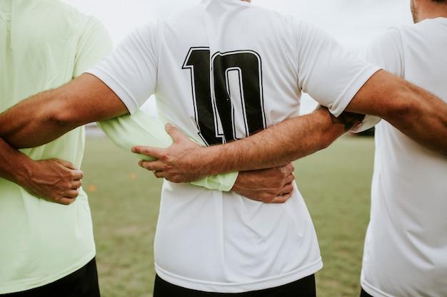 Voetbalster die nummer 10 jersey draagt