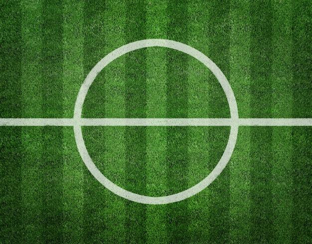 Voetbalveld centrum bovenaanzicht achtergrond