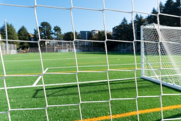 Voetbalveld met defocus