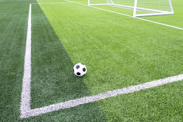 Voetbalveld met kunstgras