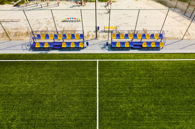 Voetbalveld of voetbalveld achtergrond
