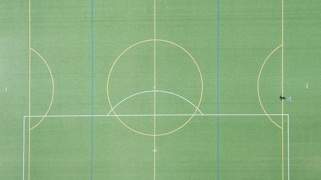 Voetbalveld of voetbalveld groen grasveld voor het maken van sportspel.