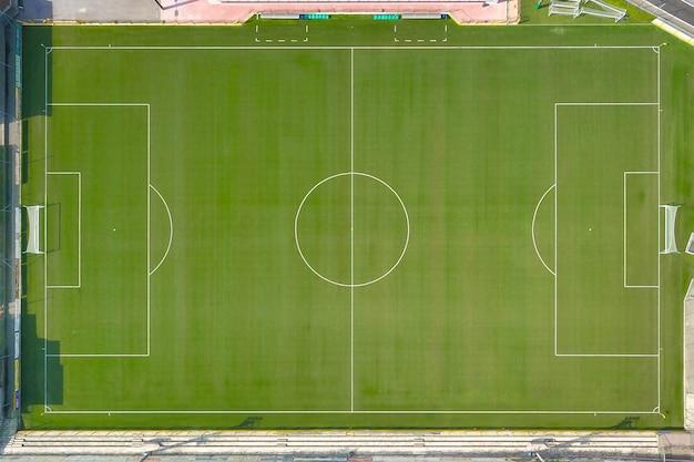 Voetbalveld van bovenaf gezien