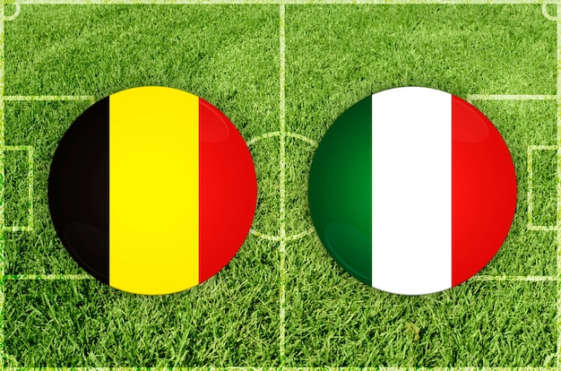Voetbalwedstrijd belgië vs italië