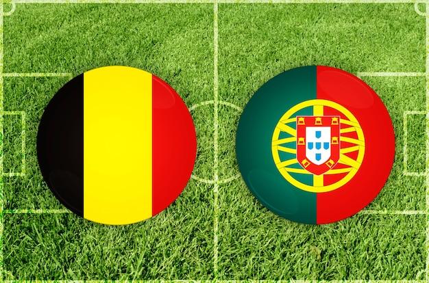 Voetbalwedstrijd belgië vs portugal
